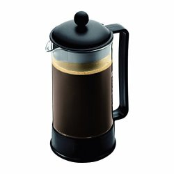Bodum Brazil French Press Coffee Maker 34 Ounce 1 Liter 8 Cup Black Renewed