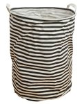 Betwoo Large Foldable Laundry Basket Storage Hamper For Dirty Clothes Black White Stripe
