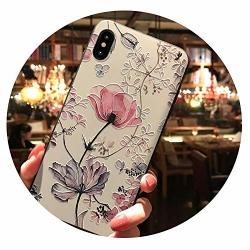 3D Emboss Flower Case For Samsung Galaxy A50 A30 A40 A70 S6 S7 Edge S8 S9 S10 S10E A5 A6 A7 A8 Plus 2018