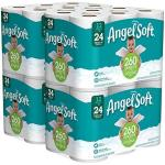 Angel Soft 2 Ply Toilet Paper 48 Double Bath Tissue Pack Of 4 12 Rolls Each