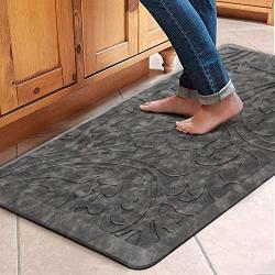 KMAT Kitchen Mat Cushioned Anti-fatigue Floor Mat Waterproof Non-slip Standing Mat Ergonomic Comfort Floor Mat Rug For Home Office Sink Laundry Desk 20 W X