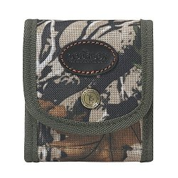 Tourbon Folding Camo Rifle Cartridge Holder Ammo Wallet Pouch With Elastic Loops