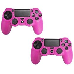 HDE 2 Pack Silicone Rubber Protective Controller Skin For Sony Playstation  PS4 Wireless Dualshock Game Controllers Hot Pink   R   Games   PriceCheck