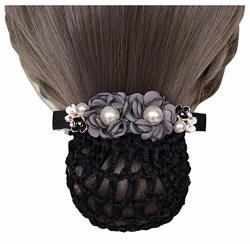 Elegant Hair Clip Net Nurse bank flight Attendant flower Hair Net 06