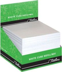 Treeline Cube Refill In Perforated Box 100 X 100MM White Box Of 24