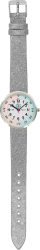 Silver Glitter Timeteach Watch
