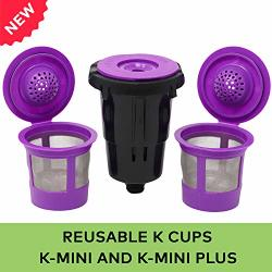 Reusable K Cups For Keurig K-mini And K MINI Plus With Adapter By Purehq Keurig MINI Plus Refillable Kcups For MINI Keurig 3