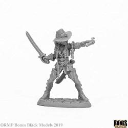 Reaper Miniatures Damaris Duskwarden 44054 Bones Black Unpainted Plastic Figure