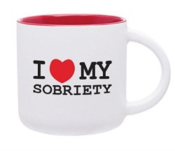 Sober City USA Sobriety Gifts For Sober People - 14 Ounce Ceramic Coffee Mug Great Gift For Anyone In Aa Recovery Alcoholics Ano