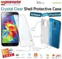 Promate Crystal-s5 Crystal Clear Shell Protective Case For Samsung Galaxy S5 Colour: Clear White