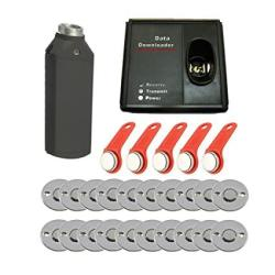 SecureControl 20PCS Check Point Dallas 1990A Ibutton Guard Tour Secrity System Guard Patrol Systems With Downloader