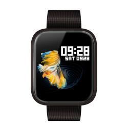 Color Touch Screen IP68 Waterproof Fitness Smart Watch - Black