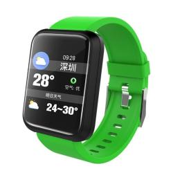 Sport 3 Smart Watch Blood Pressure IP67 Waterproof Fitness Tracker Clock Smartwatch For Ios Android Wearable Devices Green