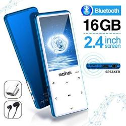 Mymahdi MP3 Player With Bluetooth 4.2 Touch Buttons With 2.4 Inch Screen 16GB Portable Lossless Digital Audio Player With Fm Radio Voice Recorder