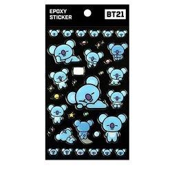 MONOPOLY Official BT21 X Epoxy Sticker Bts Bangtanboys Koya