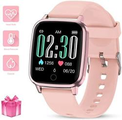 Gokoo Smart Watch For Women With All-day Heart Rate Monitor Sleep Monitor Step Calorie Kilometer Activity Tracker Waterproof IP67 Pedometer Camera Remote Female Reminder