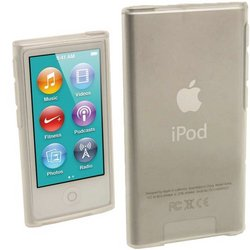 Igadgitz Clear Glossy Durable Crystal Gel Skin tpu Case Cover For Apple Ipod Nano 7th Generation 7g 16gb + Screen Protector