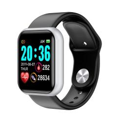 D20 1.3INCH Ips Color Screen Smart Watch IP67 Waterproof Support Call Reminder heart Rate Monitoring blood Pressure Monitoring sedentary Reminder Silver
