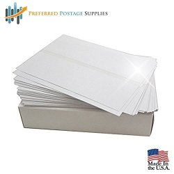 Usps Approved Bright White Box Of 300 Double Postage Meter Tapes 5 1 2 X 3 1 2 With Perf Compares To Pitney Bowes 612-0 612-7