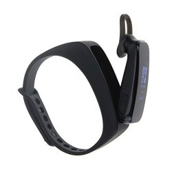 Wemelody Bluetooth Earphone Bracelet Smart Bracelet With Call And Talk Feature Pedometer Fitnes