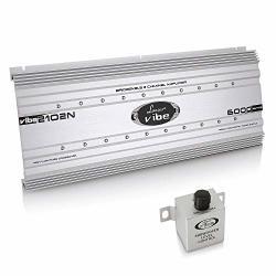 Channel 2 Car Stereo Amplifier - 6 000 Watt Dual Bridgeable Audio Sound Auto Speaker Amp Box W Subwoofer Bass Control High Power