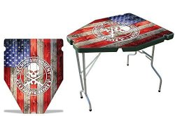 USATuff Wrap - Fits Mtm Predator PST-11 - Shooting Table Not Included - Thickest & Toughest 24MIL Decal - 2ND Amen Flag Wd Color