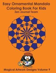 Easy Ornamental Mandala Coloring Book For Kids