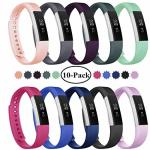 Fundro Replacement Bands Compatible With Fitbit Alta And Fitbit Alta Hr Newest Sport Strap Wristband With Secure Buckle 10 Pack