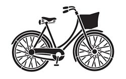 Creative Arts Lifestyle Bicycle Stencil By STUDIOR12 Fun Vintage Art - Reusable Mylar Template Painting Chalk Mixed Media Use For Wall Art Diy Home