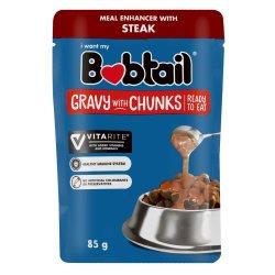 Bobtail - Dog Food Gravy With Chunks 85G Steak