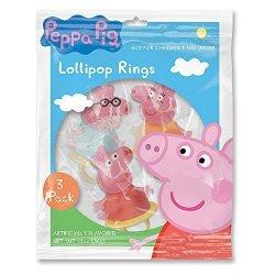 Peppa Pig Character Shaped Ring Pop Lollipops 1.5 Oz 3 Packs Of 3