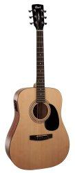Cort AD810E Open Pore Natural Acoustic Electric Guitar