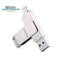 IDiskk Apple Certified 64GB Ipad USB 3.0 Lightning Flash Drive For Iphone External Storage Otg Compatible To Iphone 6 Iphone 7 Iphone 5 Ipad MINI
