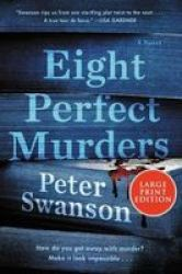 Eight Perfect Murders Paperback Large Type Large Print Edition