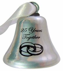 25TH Anniversary Ornament Twenty Five Years Together Wedding Bell Gift Boxed
