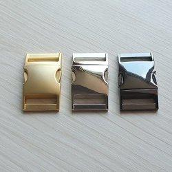 "Micoshop 2 Pcs Curve Buckles Size Metal Side Release For Lanyard Strap Paracord Bracelets 1"" 25MM Nickle-black"