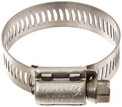 """Breeze 63020H Marine Grade Power-seal Stainless Steel Hose Clamp Worm-drive Sae Size 20 13 16"""" To 1-3 4"""" Diameter Range 1 2"""" Band Width Pack Of 10"""