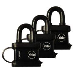 Yale - 3 Pack Keyed Alike 3.5CM Trailer Padlock