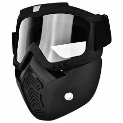 Tangxi Paintball Gear Face Shield With Clear Polycarbonate Visor And Anti-fog hard Coat Carbon Steel Shock Resistance Protective