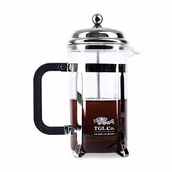 Tgl French Press Coffee Maker With 3 Part Superior Filtration 600 Ml Stainless Steel