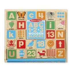 Melissa & Doug ABC 123 Wooden Blocks