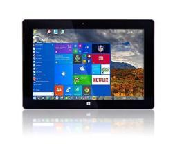 "10"" FUSION5 Ultra Slim Windows Tablet Pc- 2GB RAM 64GB Storage Full Size USB 3.0 Intel Quad-core Dual Cameras HDMI Bluetooth Win"