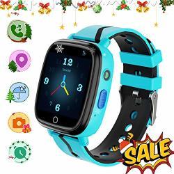 Yenisey Kids Gps Tracker Smartwatch Kids Waterproof Smartwatch Phone Sos Camera Flashlight Alarm Clock Voice Chat Math Game Watch Child Christmas Birthday Gift 3-12Y