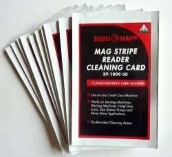 Suzo-Happ Cleaning Card For Mag Stripe Card Readers LOT 12