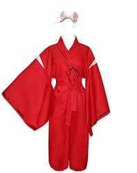 Happybus Inuyasha Cosplay Inuyasha Costume With Inuyasha Ears Halloween Costume Anime Cosplay S