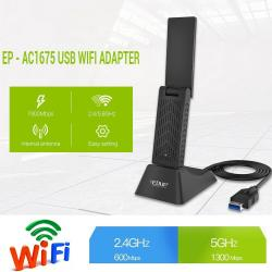 EDUP EP-AC1618 1200Mbps Dual WiFi Adapter 802.11AC RTL8812 USB 3.0 Network Card