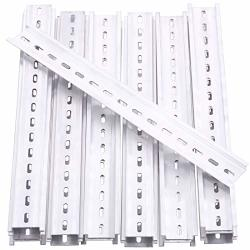 Keadic 15PCS Din Rail Slotted Aluminum Rohs Assortment Kit 12 Inches Long 35MM Wide 7.5MM High