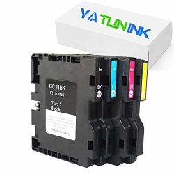 Yatunink Compatible Ink Cartridge Replacement For Ricoh GC41 Color Print Ink Cartridges With Sublimation Ink For Sg 3110DNW Sg 3110DN SG2100 SG2010 Printer GC41K