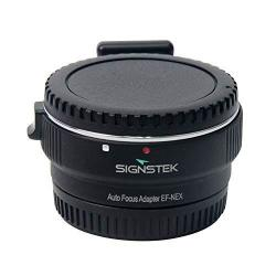 Signstek Newest Version Electronic Auto Focus Ef-nex Ef-emount Fx Lens Mount Adapter For Canon Ef Ef