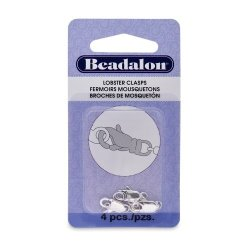 Artistic Wire Beadalon Lobster Clasp 2 Rings 12-METERSM Nickel Free Silver Plated 4-PIECE